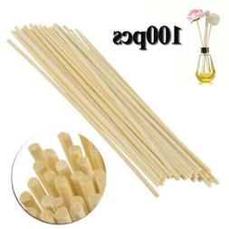 100pcs Wooden Reed Fragrance Sticks Essential Oil Perfume Ar