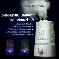 1500ML Aroma Air Humidifier LED Air Diffuser Air Purifier At