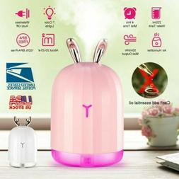 220ml USB LED Humidifier Purifier Air Diffuser Small Mist Ma