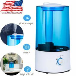4L Ultrasonic Cool Mist Air Diffuser Humidifier Atomizer LED