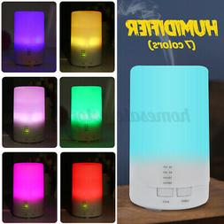 7 Colors LED Night light Air Humidifier Aroma Essential Oil
