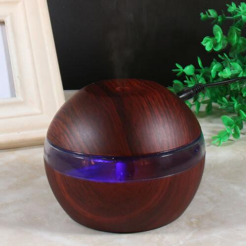 300ml Cool Humidifier LED Aroma Oil Room