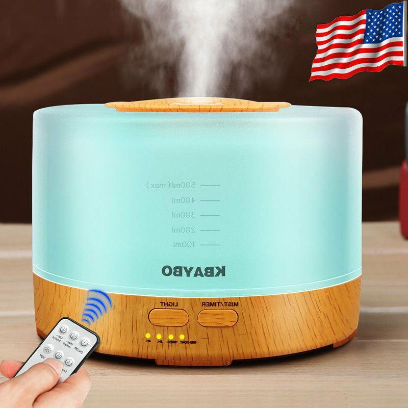 500ml led ultrasonic humidifier essential oil diffuser