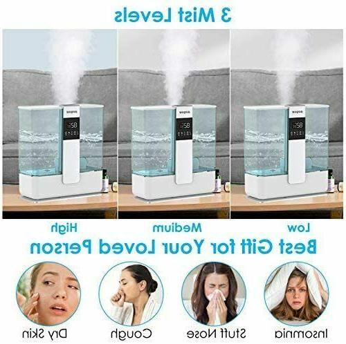 5L Cool Mist Humidifier for Large Room Bedroom with