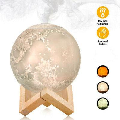 880ML Mist Maker USB Light Aromatherapy Diffuser 3D Moon Lam