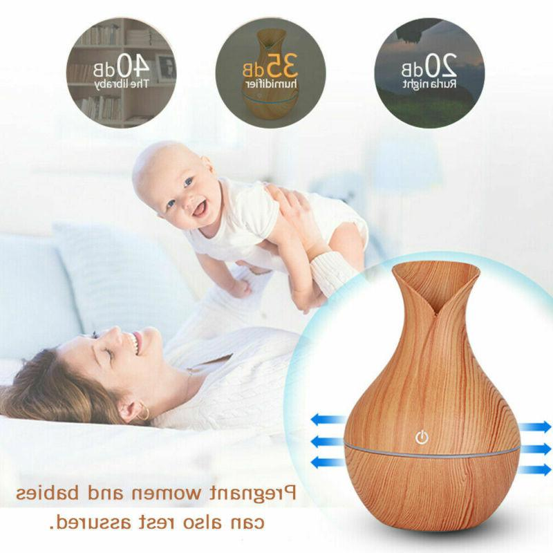 color led ultrasonic essential oil diffuser aromatherapy