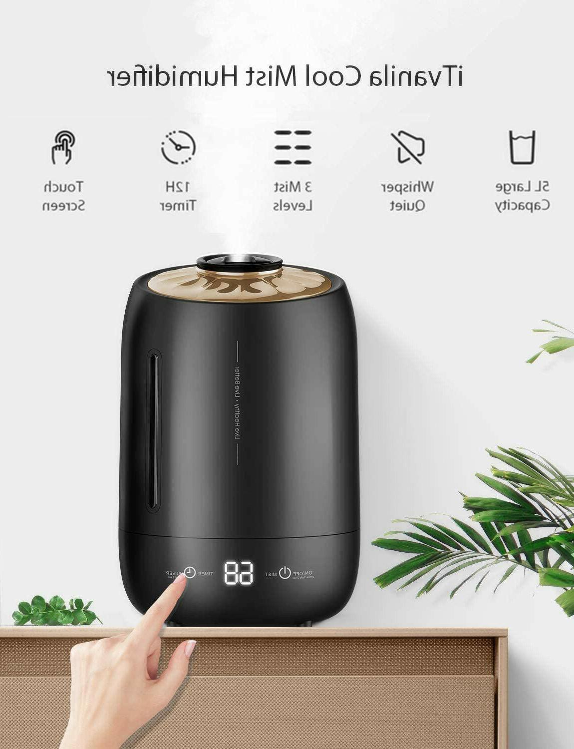 Cool Humidifiers for Baby & Bedroom, Air Humidifier, Whisper-Quiet