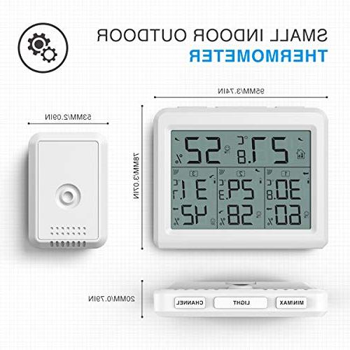 AMIR 3 Channels Thermometer Sensor, Humidity LCD and for Home, Office, Baby Room