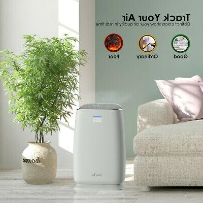 Large Room Air Purifier HEPA Filter Cleaner Remove Odor Allergies-4 Stage