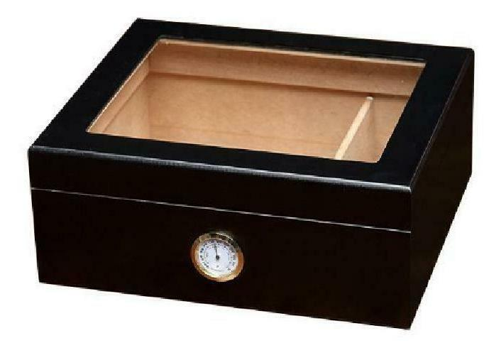 Prestige Import Group - The Chalet Glass Top Cigar Humidor -