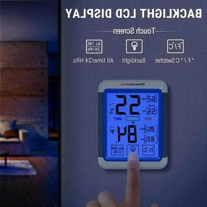 ThermoPro TP55 Indoor Thermometer Gauge with...