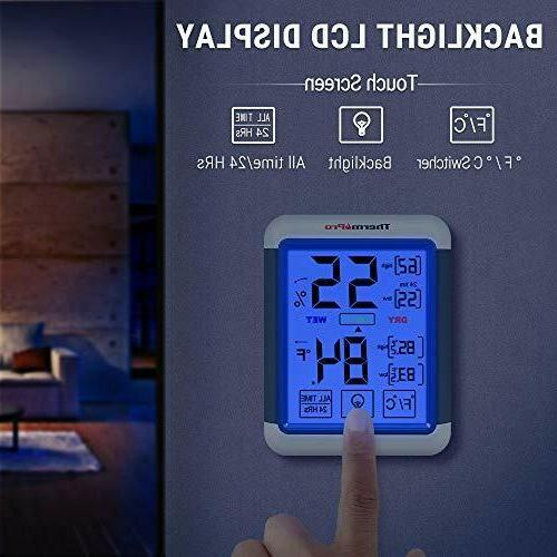 ThermoPro TP55 Indoor Humidity with...