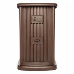 Large Room Pedestal Evaporative Humidifier, Brown 3.5-Gal Up