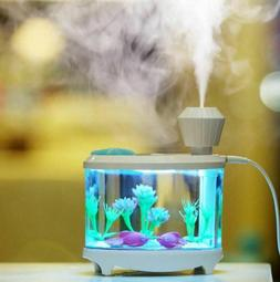 LED Fish Tank Night Light Humidifier Aquarium