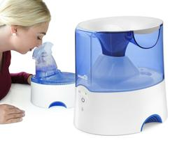 Crane Personal Steam Inhaler and Warm Mist Humidifier Blue a