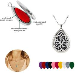 Stainless steel Aroma Perfume Diffuser Locket Pendant chain