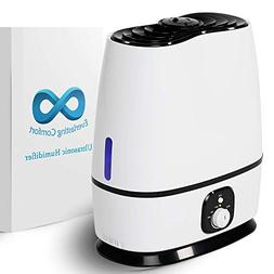 Ultrasonic Cool Mist Humidifier  - Essential Oil Tray, High