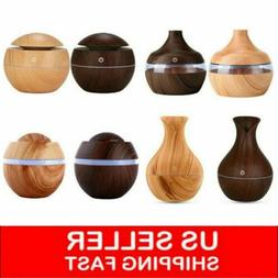 USB LED Ultrasonic Aroma Humidifier Essential Oil Diffuser A